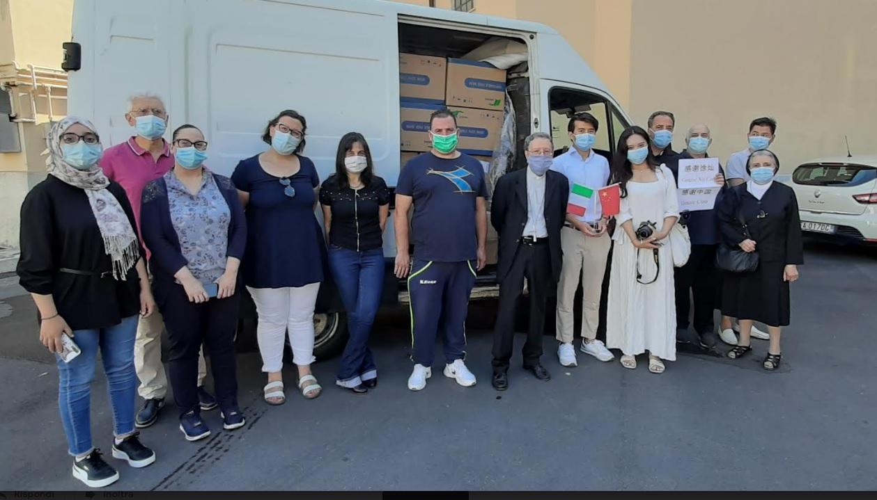 Donate 100mila mascherine alla Caritas di Avezzano