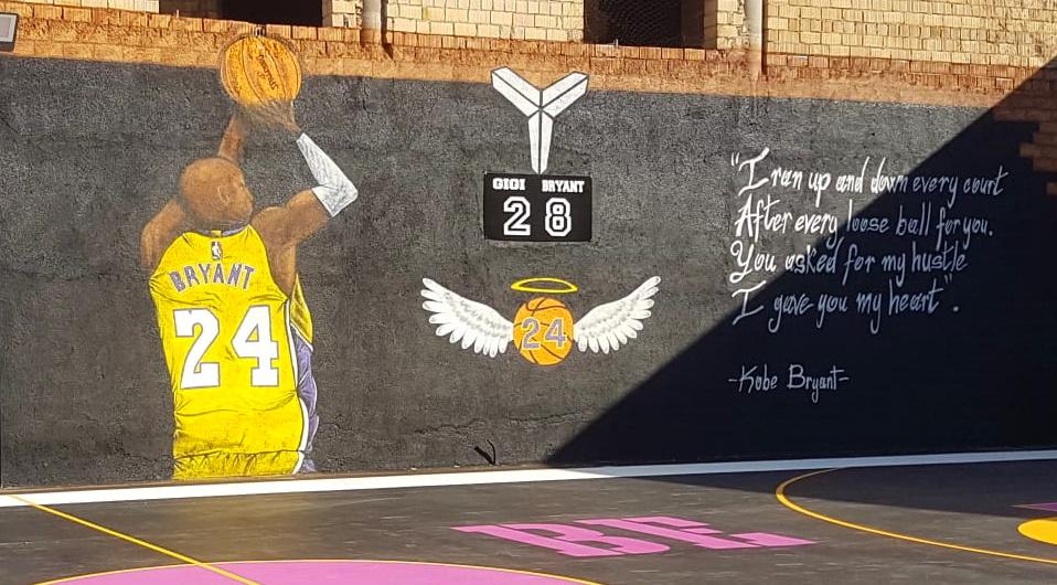 Kobe Bryant, Celano dedica un murales al campione del basket tragicamente scomparso