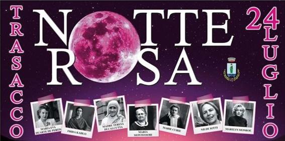 Il Comune di Trasacco presenta la Notte Rosa 2020