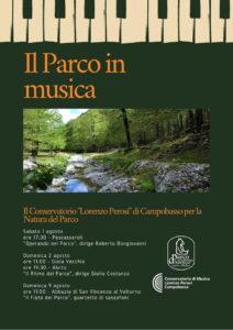 """Il Parco in musica, quattro concerti ad opera del Conservatorio """"Perosi"""" di Campobasso"""