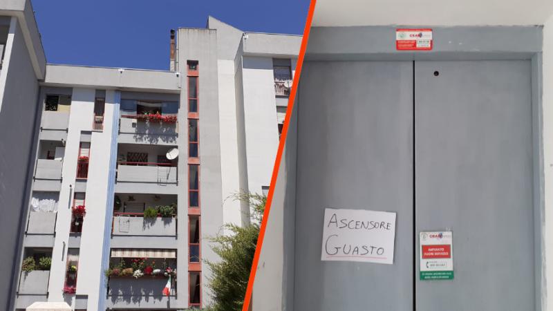 Ascensore rotto da più di un mese in una palazzina Ater: protestano i residenti