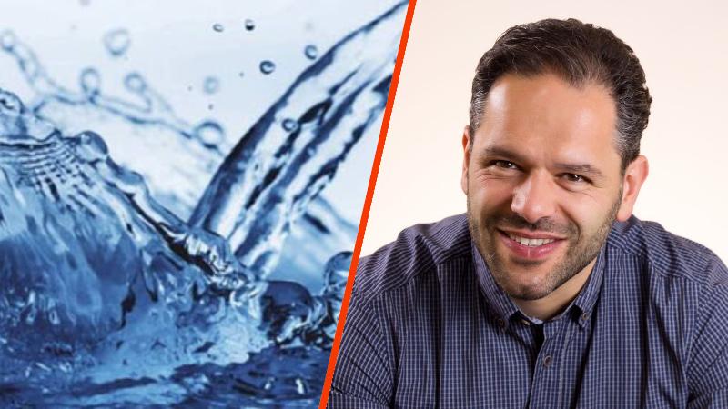 """Francesco Eligi contro lo spreco d'acqua, """"mi fa venire rabbia che acqua limpida e chiara si disperda nella fogna"""""""