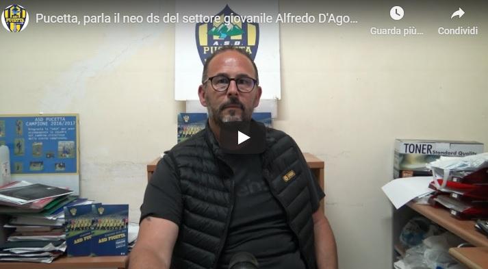 Pucetta: Alfredo D'Agostini è il nuovo ds del Settore giovanile