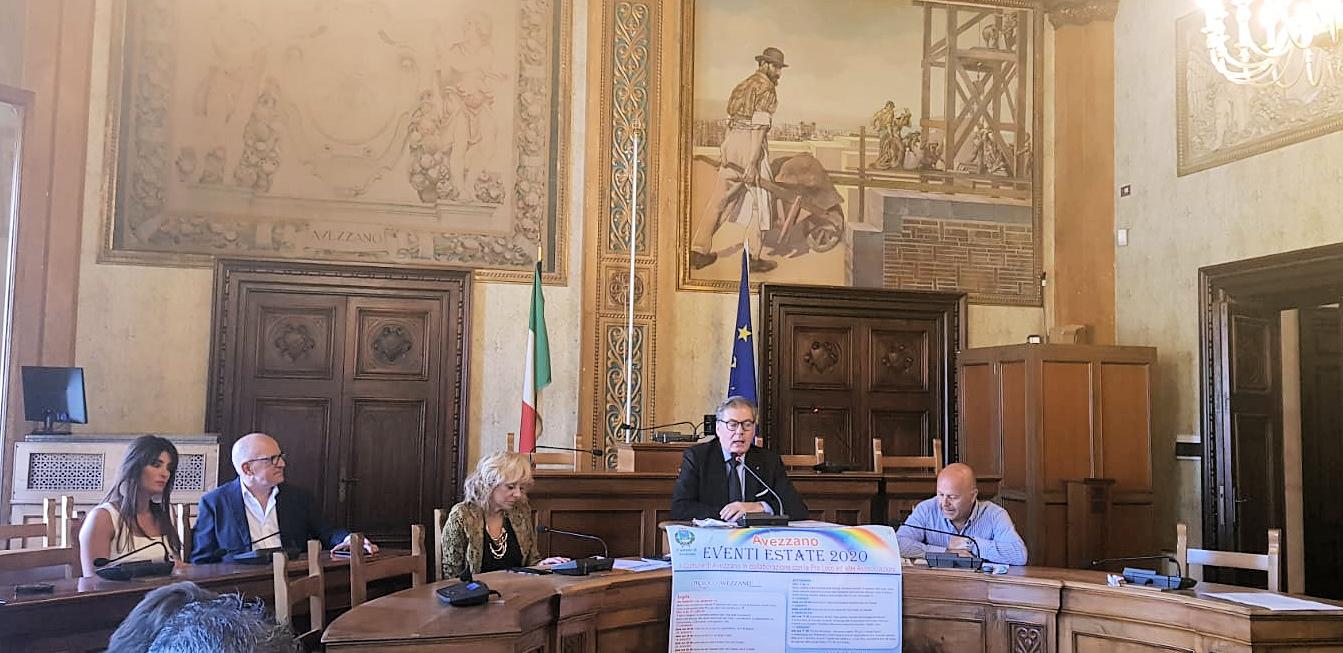 """Presentato in Municipio il programma """"Avezzano Eventi Estate 2020"""""""