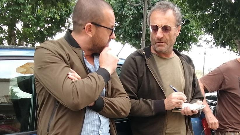 Il noto giornalista del Corriere della Sera Carlo Vulpio in visita ad Aielli