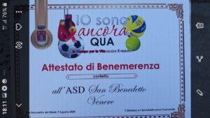 """""""Io sono ancora qua. Per la vita contro il cancro"""" i piccoli lupi della ASD San Benedetto Venere scendono in campo"""
