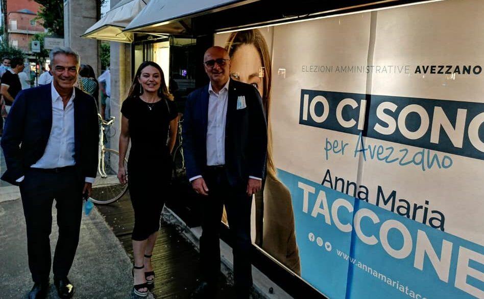 """Inaugurazione comitato elettorale, De Angelis: """"un grande in bocca al lupo ad Anna Maria Taccone"""""""