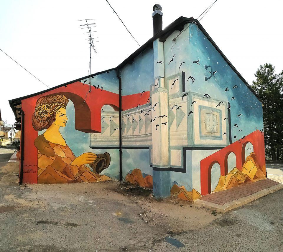Il murale di Valeria Iozzi è un omaggio alla storia di Aielli