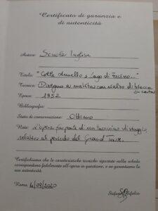 """Collarmele, il prezioso disegno di """"Colle Armelo"""" del 1852 verrà esposto all'inaugurazione della Piazza dell'Orologio"""
