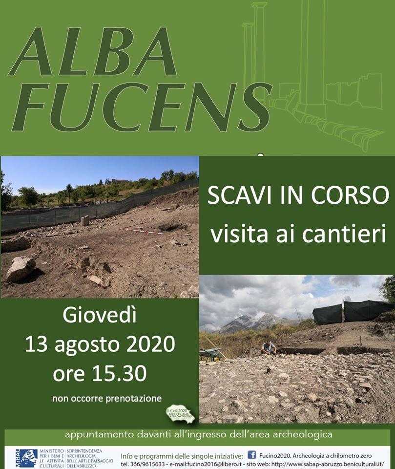 Visita agli scavi dell'area archeologica di Alba Fucens