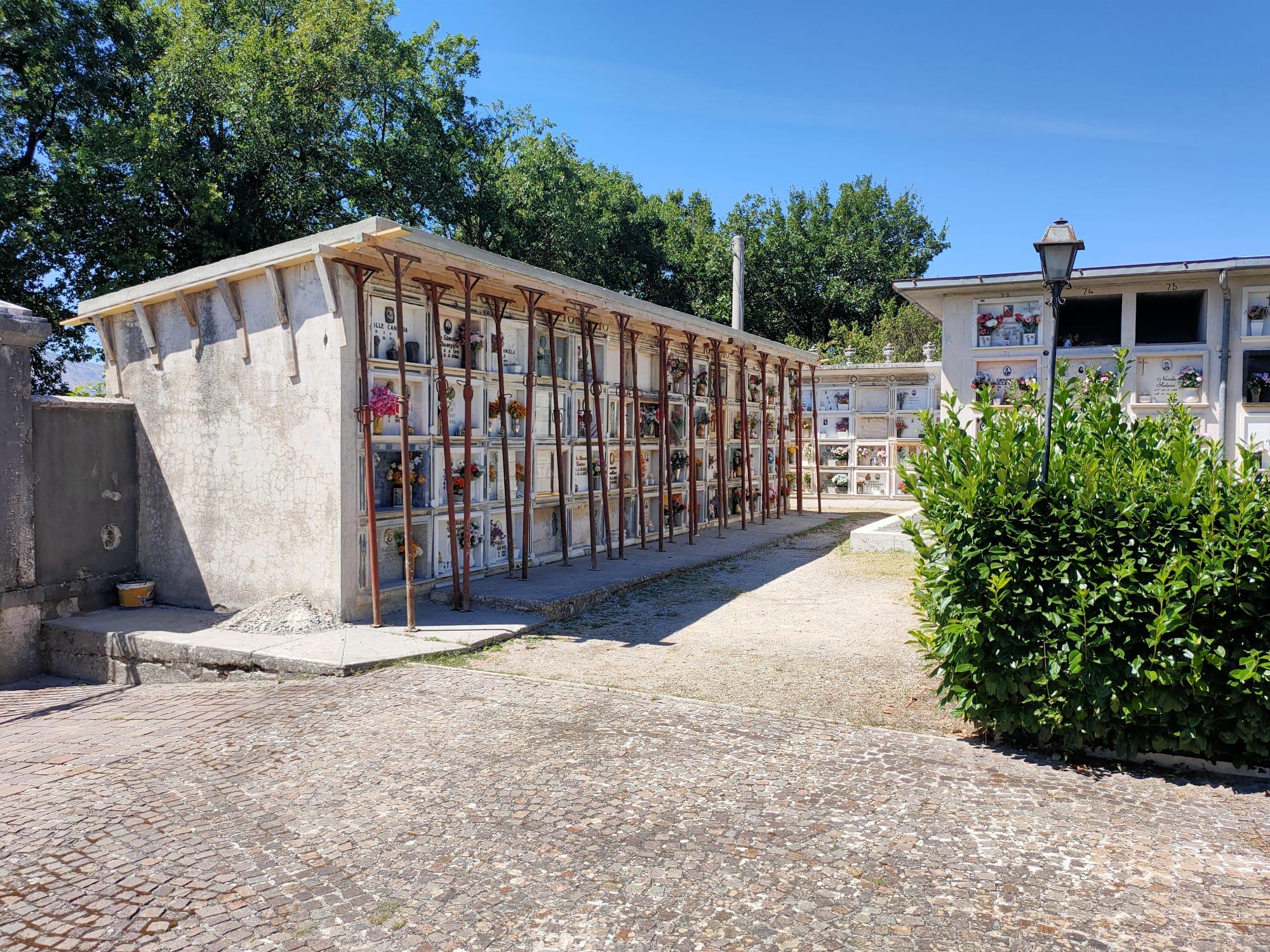 Proseguono i lavori di rifacimento dei loculi presso i cimiteri di Scurcola Marsicana e Cappelle dei Marsi