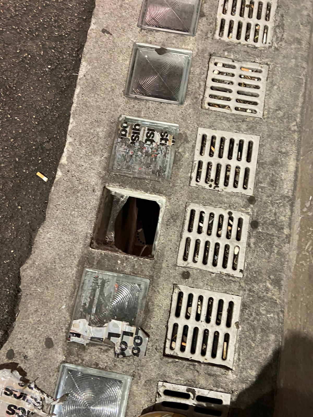 Cade in pieno centro ad Avezzano a causa di un lucernario rotto
