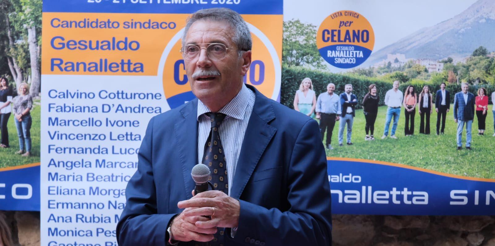 """Ranalletta presenta """"Per Celano"""" alla città appuntamento in piazza IV Novembre"""