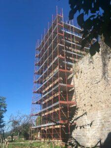 Carsoli, proseguono i lavori di messa in sicurezza del Complesso Monumentale Forte De Leoni