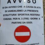 Cerchio, il campo sportivo 'Orto Sereno' chiuso per 3 giorni in seguito agli atti vandalici