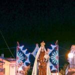 foto 4 statua della patrona portata in processione
