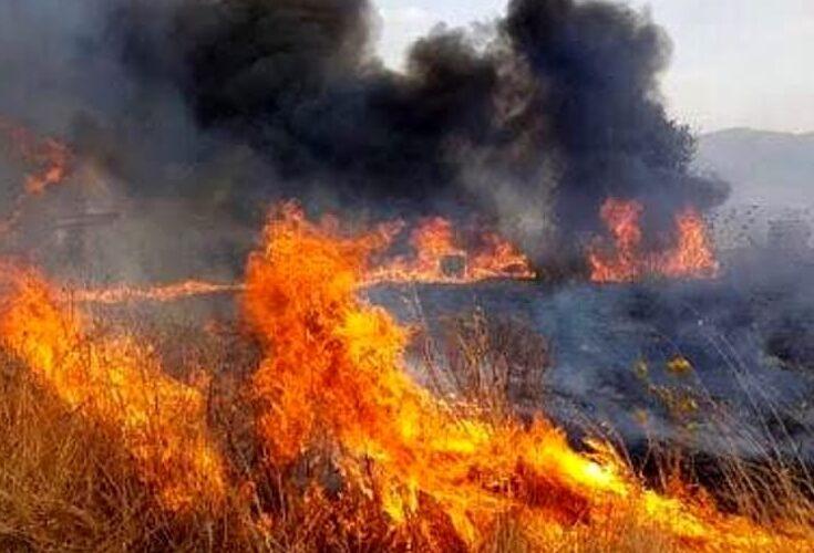 Incendio lungo la Circonfucense tra Luco dei Marsi ed Avezzano