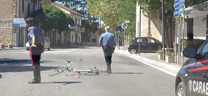 Incidente a Cappelle dei Marsi, coinvolto un ciclista