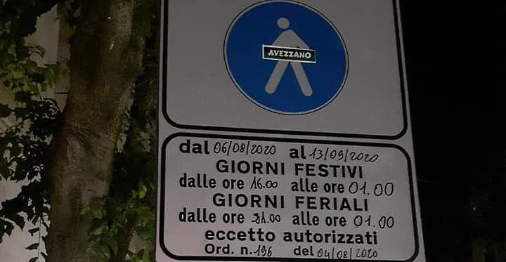 Isola pedonale nel centro di Avezzano, attenzione ai cartelli!