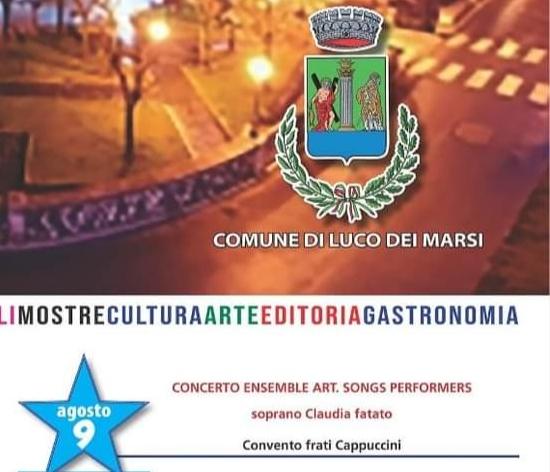 Luco dei Marsi, domani sera il concerto dell'Ensemble Art Song Performers