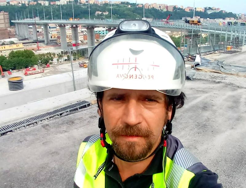 Il marsicano che ha lavorato alla ricostruzione del Ponte di Genova