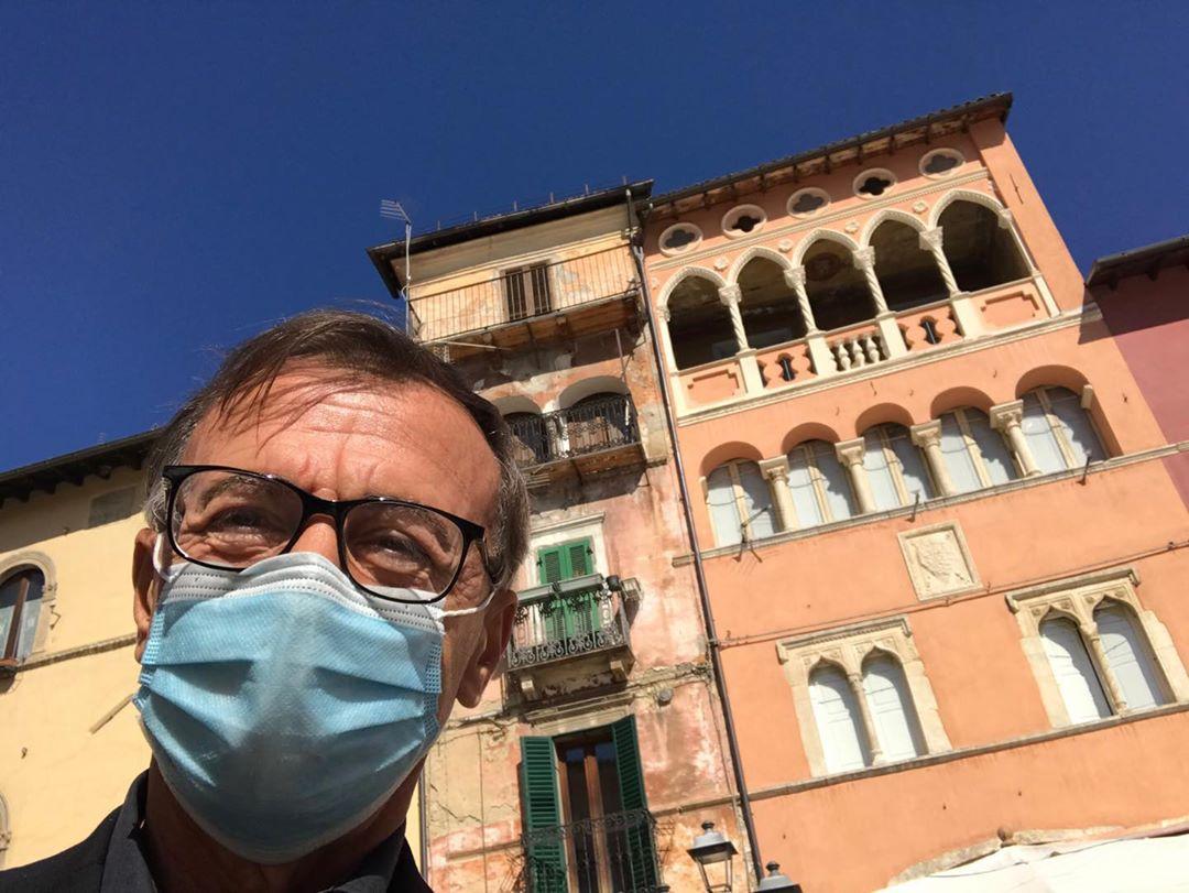 Michele Cucuzza, selfie da Tagliacozzo
