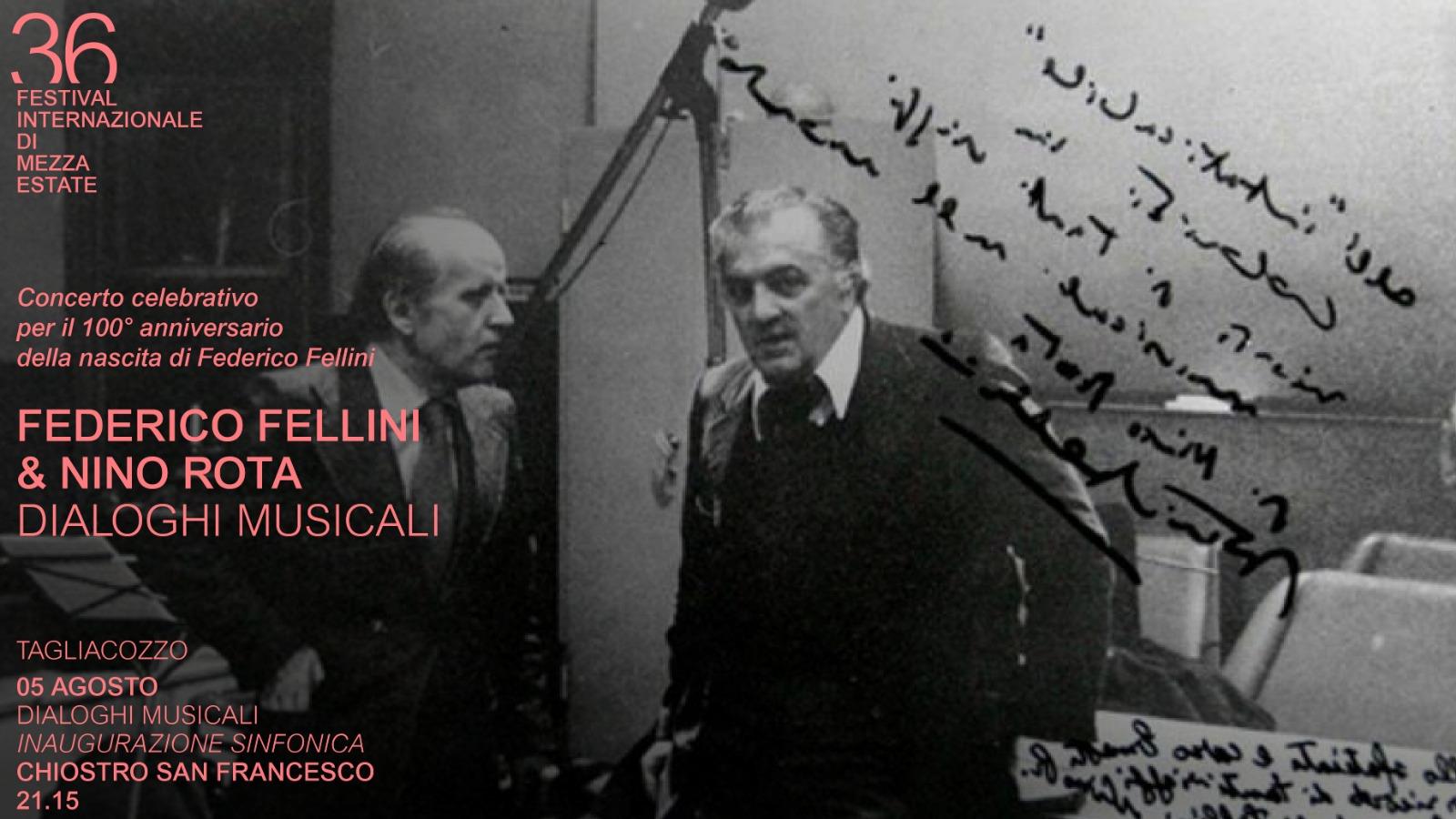 A Tagliacozzo Festival un grande concerto celebra i 100 anni di Federico Fellini