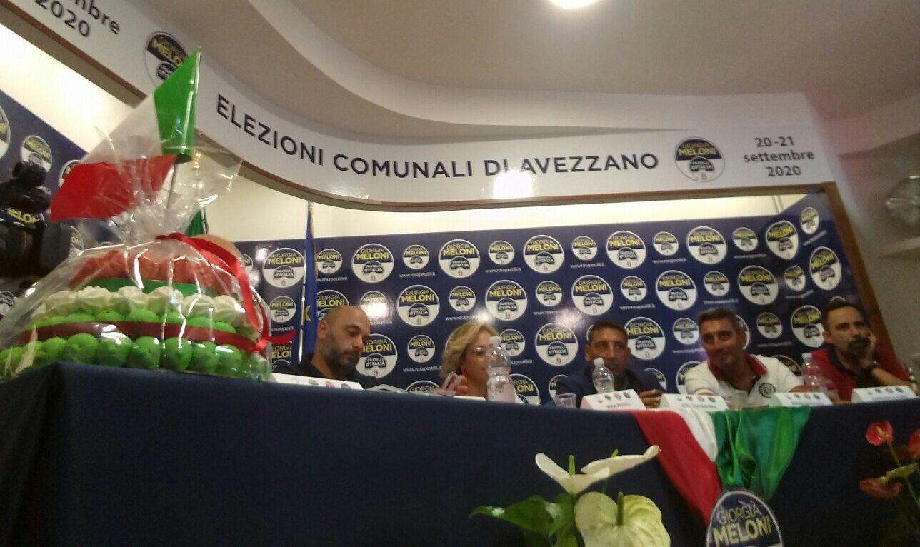 Elezioni Avezzano, tutto lo stato maggiore di Fratelli d'Italia alla presentazione della candidatura di Rosa Pestilli