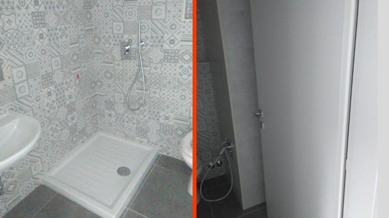 Ospedale di Avezzano: bagni in ciascuna stanza di degenza per il reparto di ostetricia e ginecologia, condizionatori in corridoio