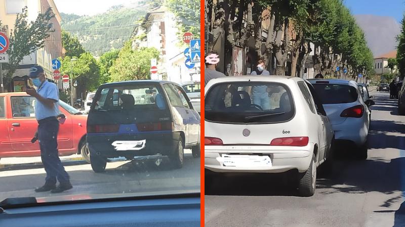 Incidente e un'auto in panne, mercoledì mattina nero per il traffico ad Avezzano