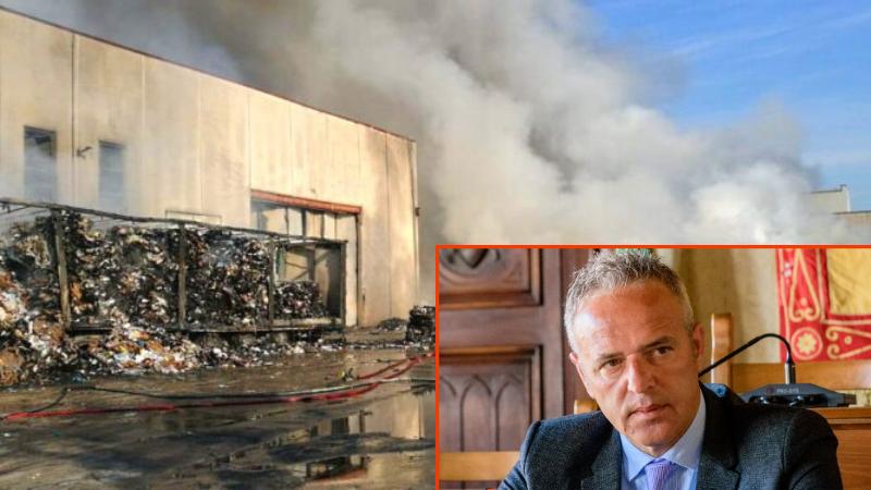 """Incendio impianto rifiuti ad Avezzano, interviene il candidato Presutti """"Siamo preoccupati, chiediamo di rendere noti i pericoli"""""""