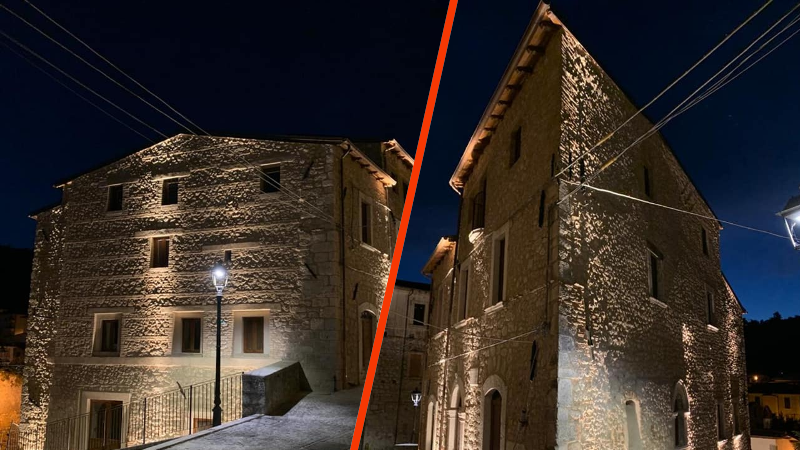 Pescina, illuminata la casa natale di Ignazio Silone