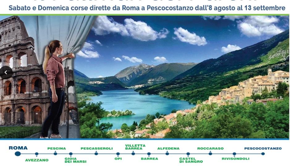 Il fine settimana Abruzzobus collegherà Roma ai Parchi d'Abruzzo
