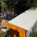Rifiuti e sporcizia lungo il fiume Giovenco a San Benedetto dei Marsi