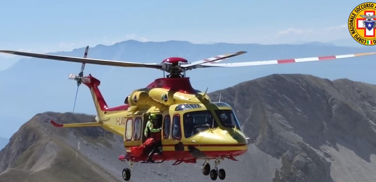Scivola durante un'escursione alle Gole di Celano, soccorso con l'elicottero del 118