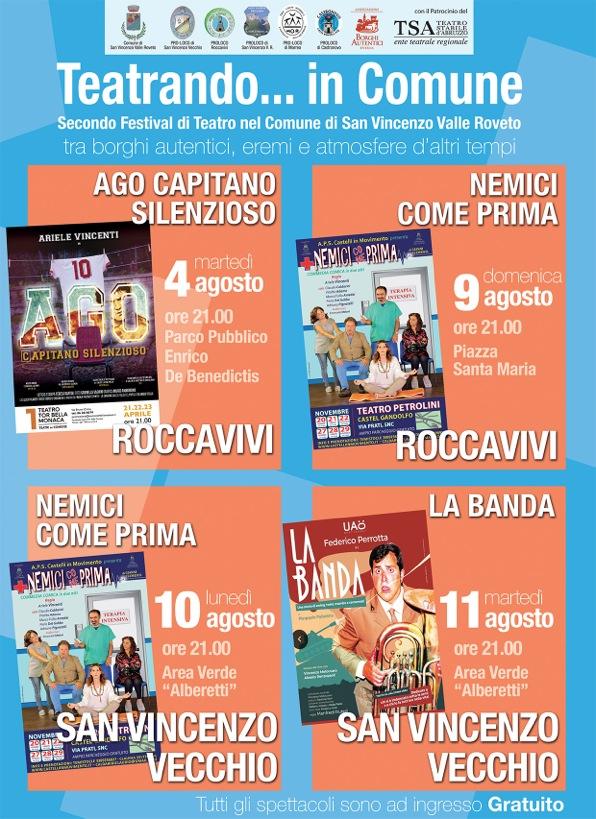 Teatrando… in Comune a San Vincenzo Valle Roveto
