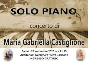 La pianista Maria Gabriella Castiglione in concerto a Trasacco