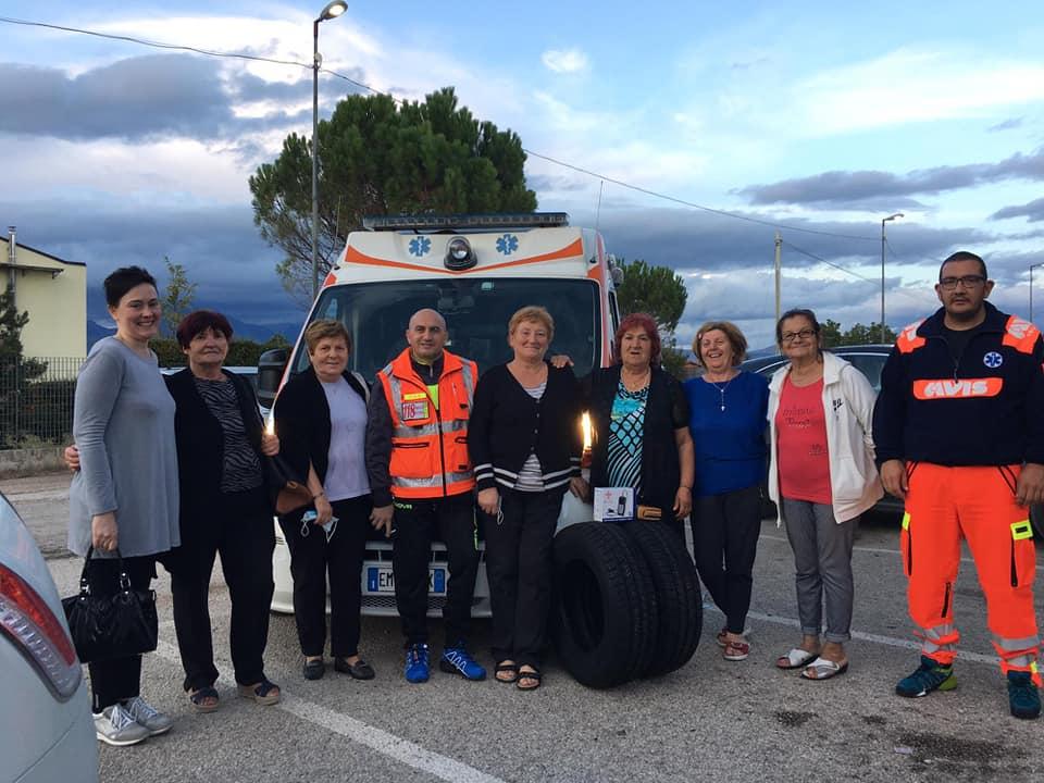 Trasacco, il Comitato Feste Patronali Anno 2019 dona due gomme termiche e un saturimetro professionale all'Avis Trasacco Servizio 118