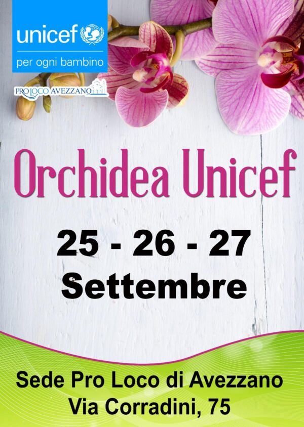 Torna l'Orchidea Unicef ad Avezzano