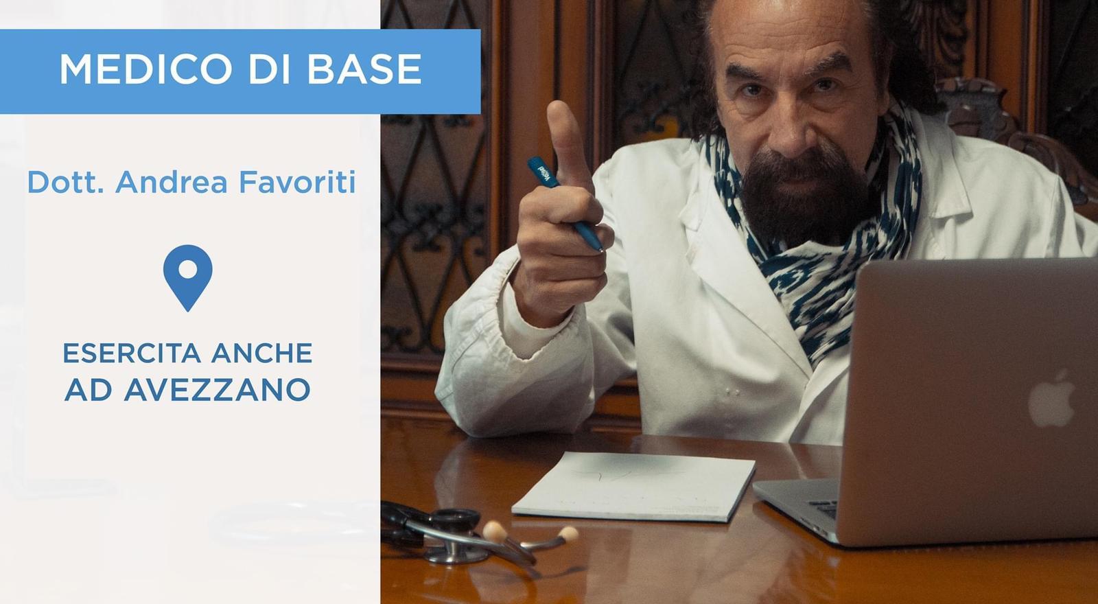 Medicina generale: il dottor Andrea Favoriti eserciterà anche ad Avezzano