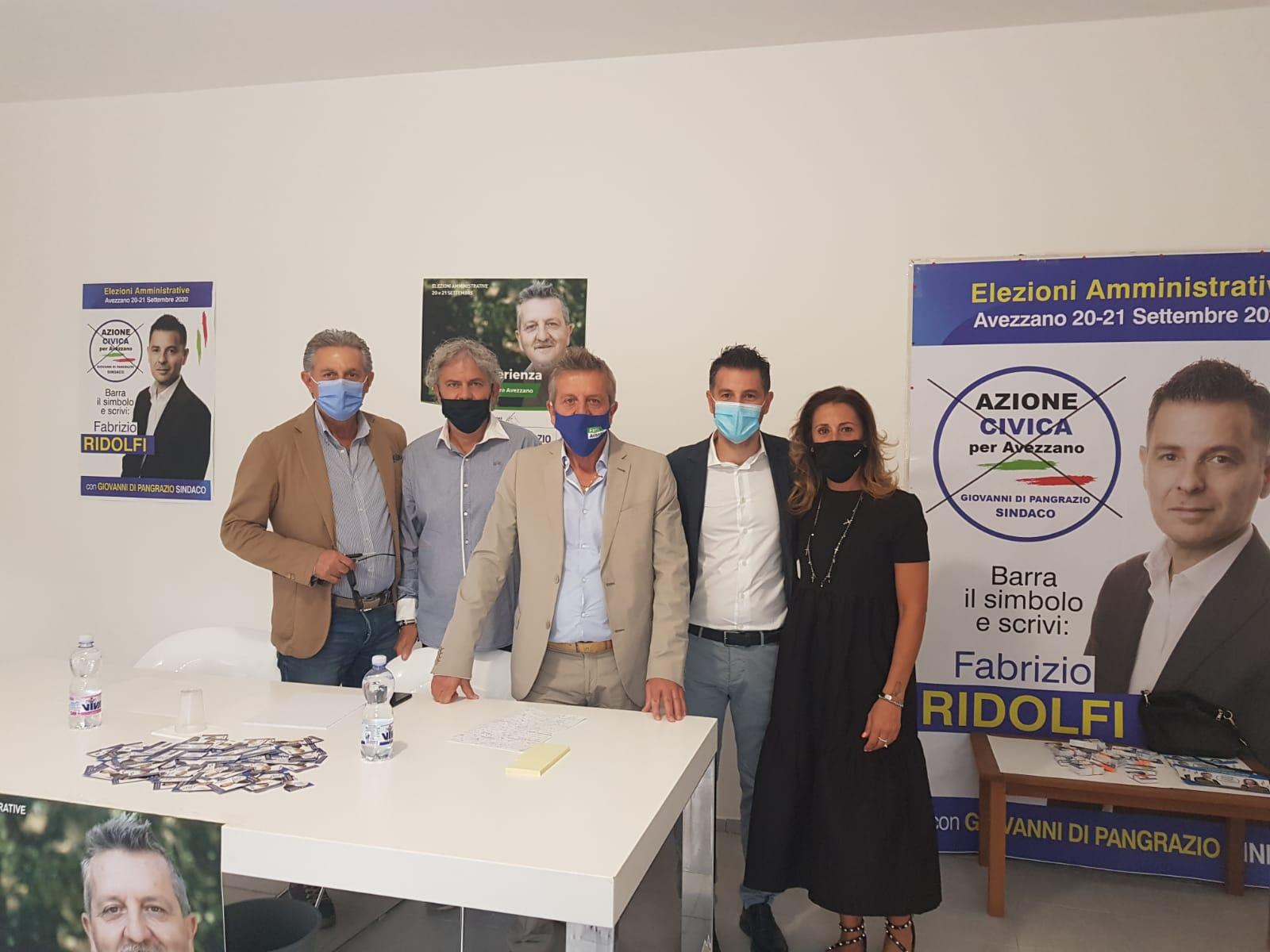 """Inaugurate le sedi elettorali della lista """"Avezzano Libera"""" e del candidato consigliere Fabrizio Ridolfi"""