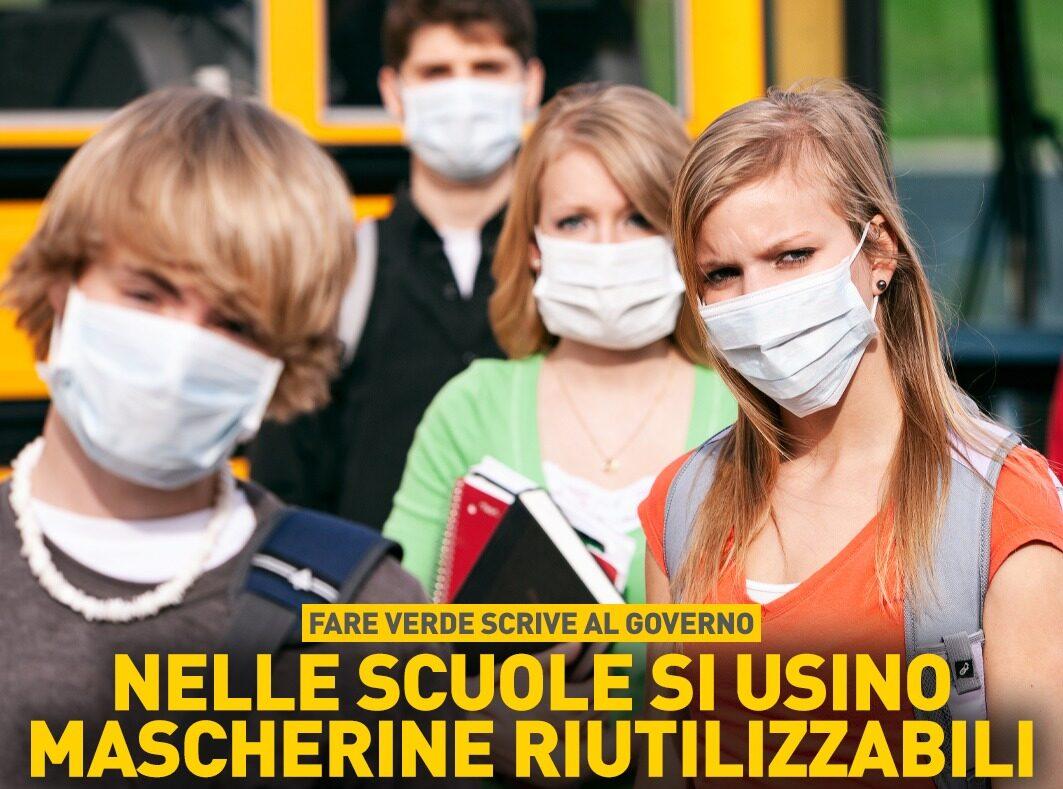 """Fare Verde """"A scuola si usino le mascherine riutilizzabili, per salvare noi e l'ambiente"""""""