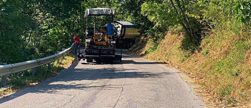 Avviati i lavori per la sistemazione del manto stradale della SP 87
