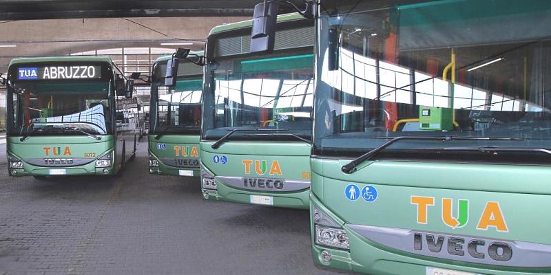 Aggiunti 19 autobus di ultima generazione alla flotta mezzi di TUA