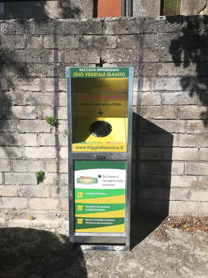 Carsoli, installate sei nuove postazioni di raccolta degli oli esausti