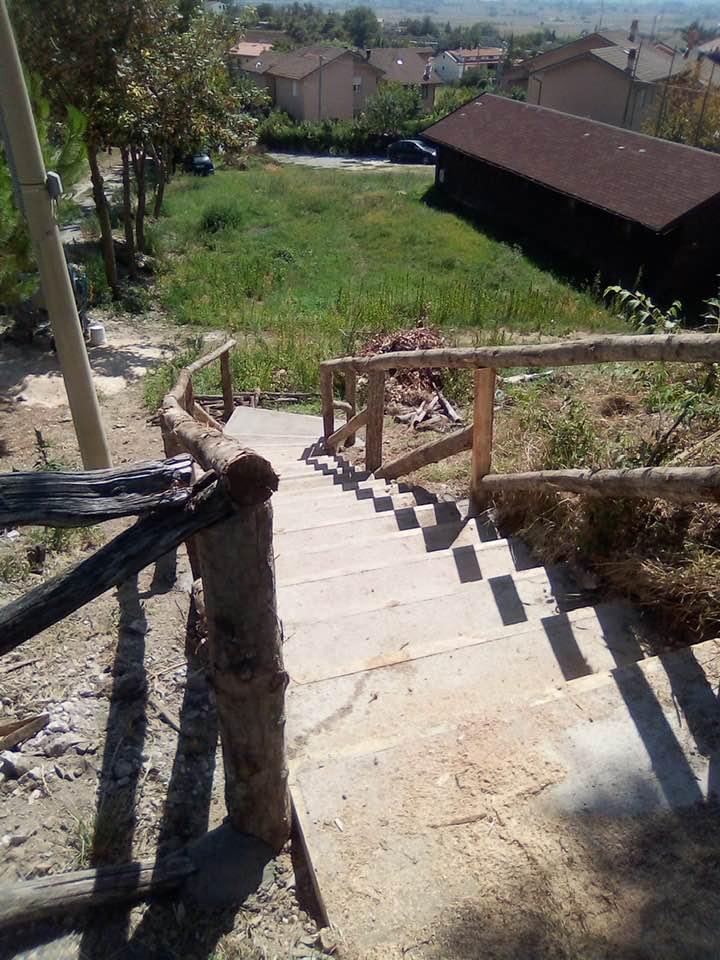 Cerchio, completata la prima scalinata presso Orto Sereno