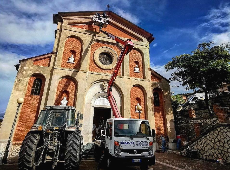 Al via i lavori nella chiesa della Madonna del Carmine a Venere dei Marsi