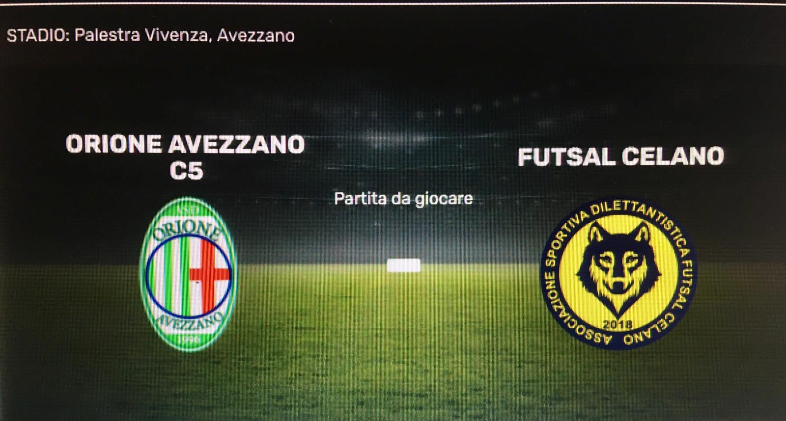 Futsal: Derby tra Orione C5 e Futsal Celano agli ottavi di Coppa Italia