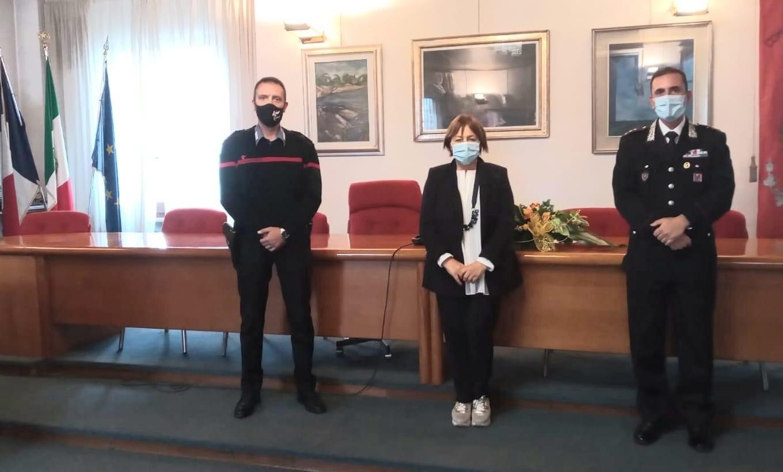 Luco dei Marsi, visita del Comandante dei Carabinieri di Avezzano Luigi Strianese