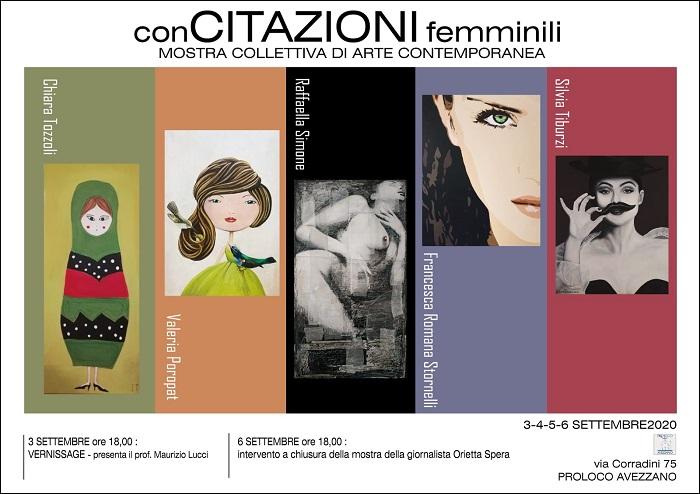 """La Pro Loco di Avezzano presenta """"conCITAZIONI femminili"""", la Mostra Collettiva di Arte Contemporanea dedicata al mondo femminile"""